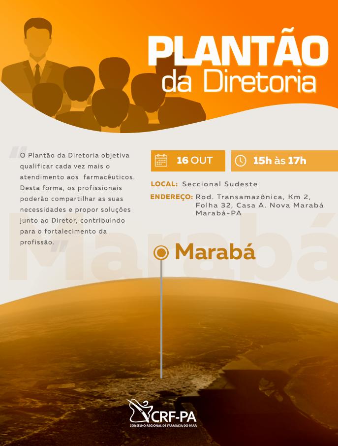 Plantão da Diretoria Marabá CRF-PA