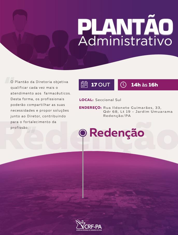 Plantão Administrativo Redenção CRF-PA